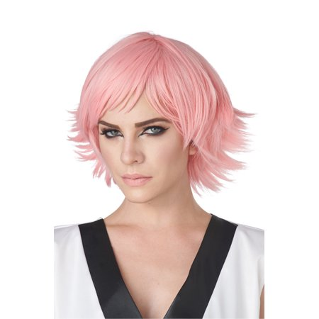 Feathered Cosplay Adult Wig (Rose Pink)](Feathered Wig)