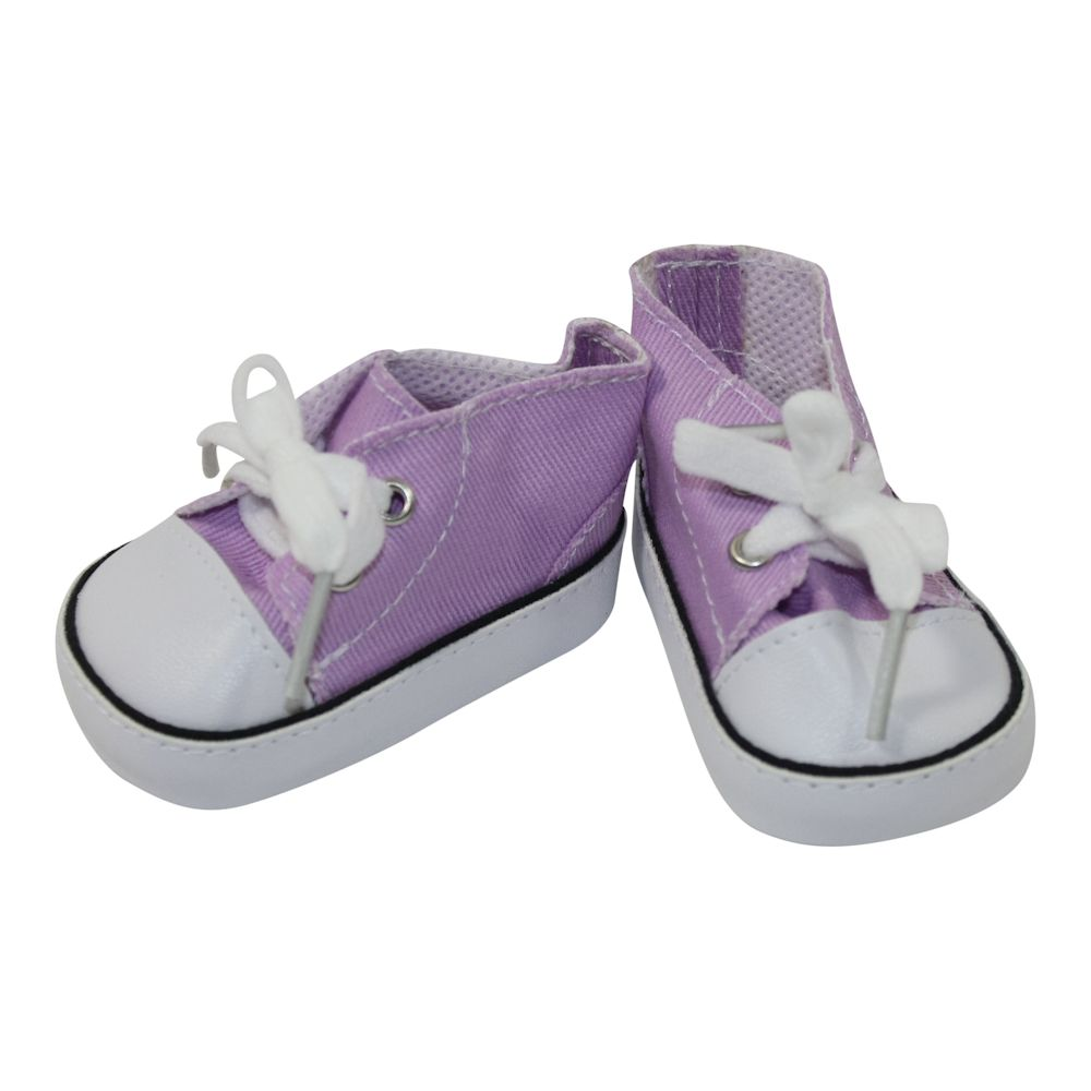 Arianna Lavender Low Cut Canvas Sneaker  fit most 18 inch dolls