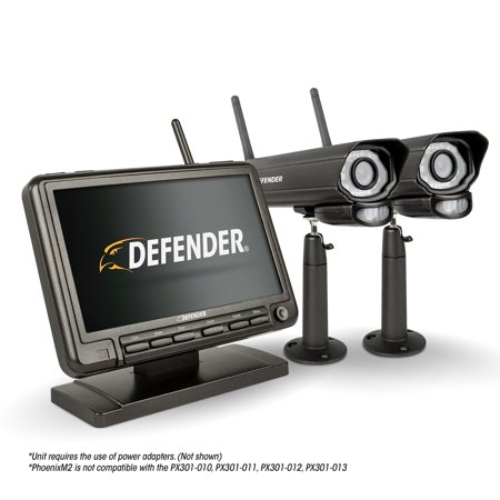 Defender Phoenixm2 Digital Wireless 7   Monitor Dvr Security System With 2 Long Range Night Vision Cameras And Sd Card Recording