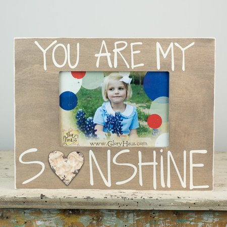 Glory Haus You Are My Sunshine With Tin Picture Frame Walmartcom