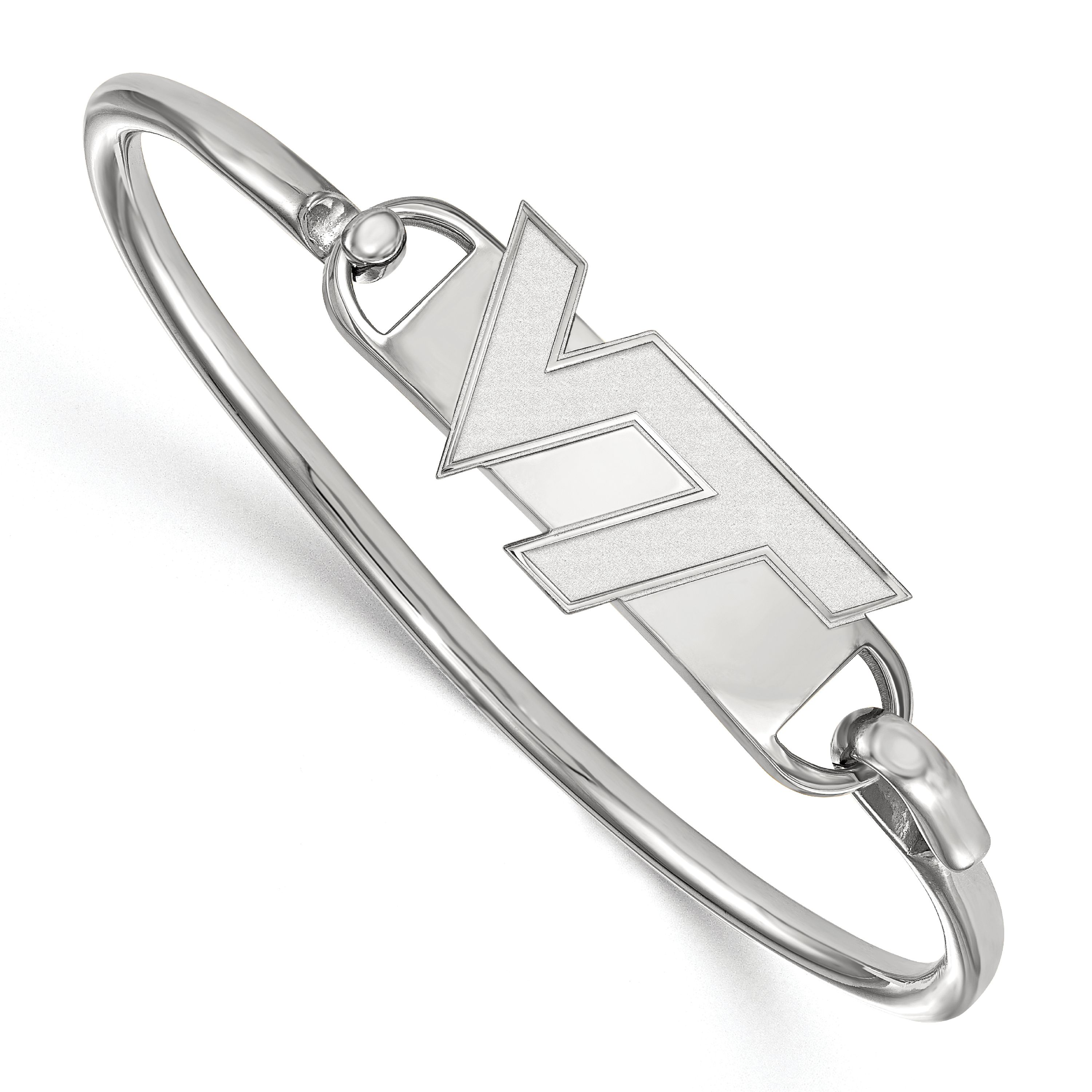 Sterling Silver LogoArt 7in Official Licensed Collegiate Virginia Tech Bangle
