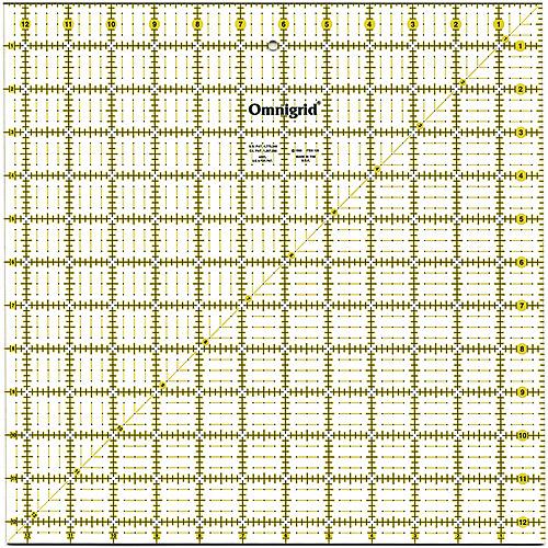 """Omnigrid Quilter's Square, 12.5""""x12.5"""