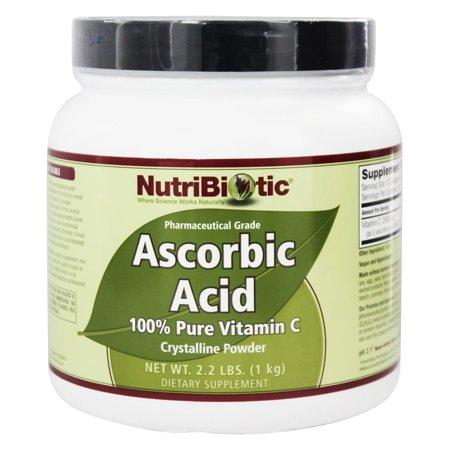 Nutribiotic - Ascorbic Acid Crystalline Powder 100% Pure Vitamin C 2500 mg. - 2.2 lbs.