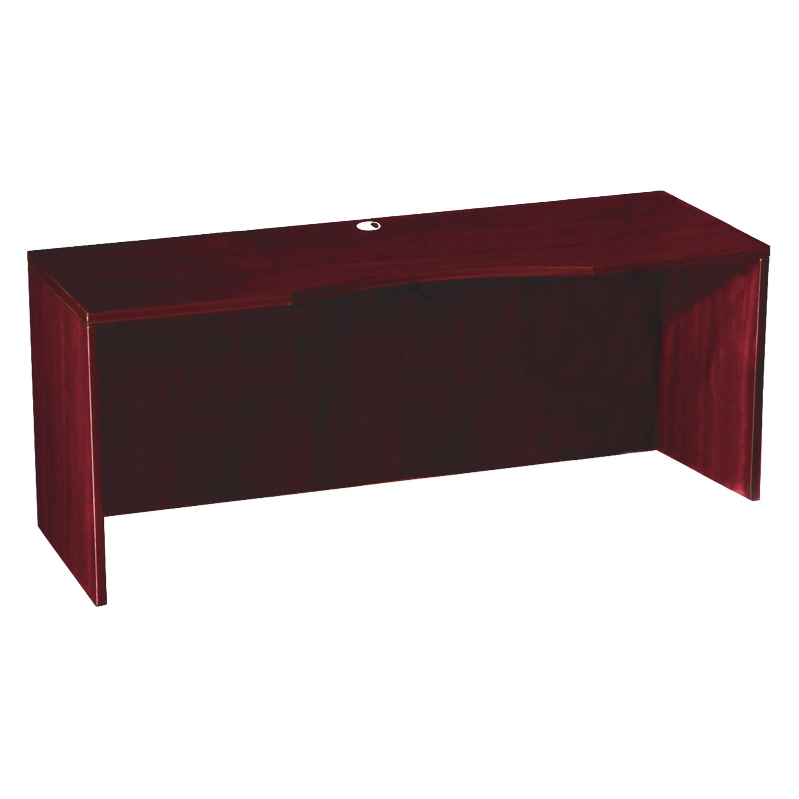 Boss Office Products Curve Mahogany Credenza Shell by Overstock