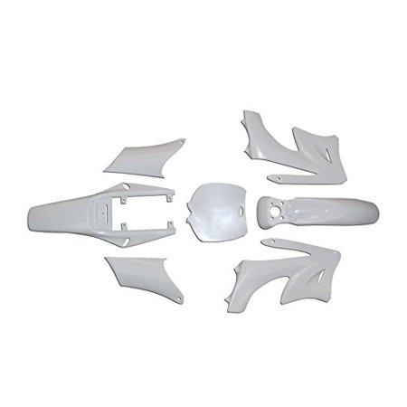 Lumix GC White Plastic Fairings Body Kit For Coolster QG50X QG-50X Mini Pocket Dirt Bike 49cc Dirt Bike Body Kits