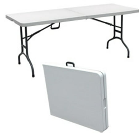 Palm springs 6 foot portable plastic banquet table white for Table pliante walmart