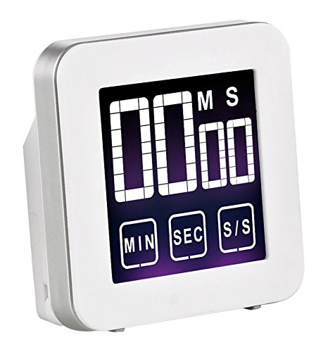 Cook N Home Touch Screen Kitchen Timer, White