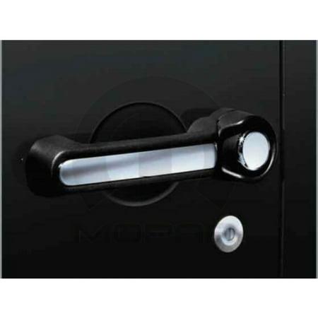 Rim Wrangler 2 Inserts - Mopar 82212489 Chrome Door Handle Insert Jeep Wrangler Two Door