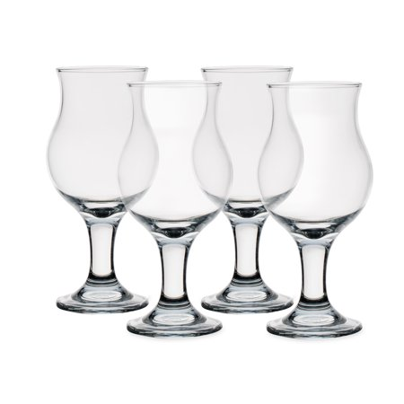 Stemmed Cocktail (Caribbean Cooler Stemmed Daiquiri Cocktail Glasses - 12 oz - Set of 4)
