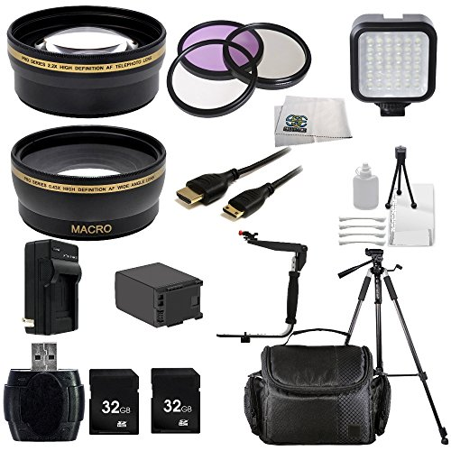 HD CMOS Pro Ultimate Professional Accessory Kit Includes Wide & Telephoto Lenses + 3 Piece Filter Kit... by SSE