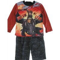 Little Boys Black Printed 2 Pc Pajama Set 4-6