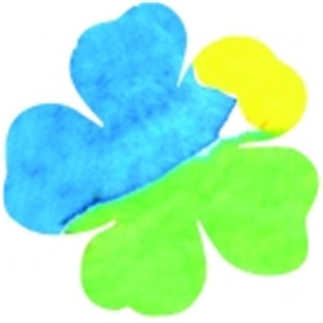 Hygloss 5.5 in. Flowers Dippity Dye Paper, Pack - 36