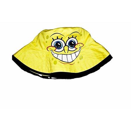 NickelodeonSpongeBobSquarepantsFaceBucketHat-Yellow - Spongebob Hat