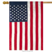 """American Flag Applique & Embroidered House Flag Stars & Stripes USA 28"""" x 50"""""""