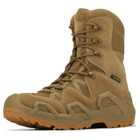 """ROCKROOSTER – Walland Men 8"""" Lightweight Tactical & Military Waterproof Rubber Outsole Military Hiking Boots Outdoor Sneakers KS537-8"""