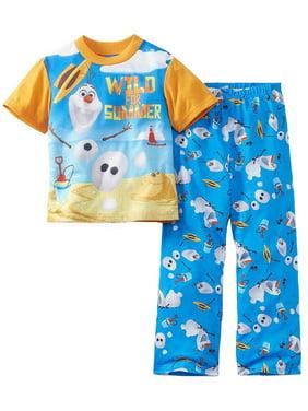 "Disney Frozen Little Boys' ""Wild for Summer"" 2-Piece Pajamas, Assorted, Size: 8"
