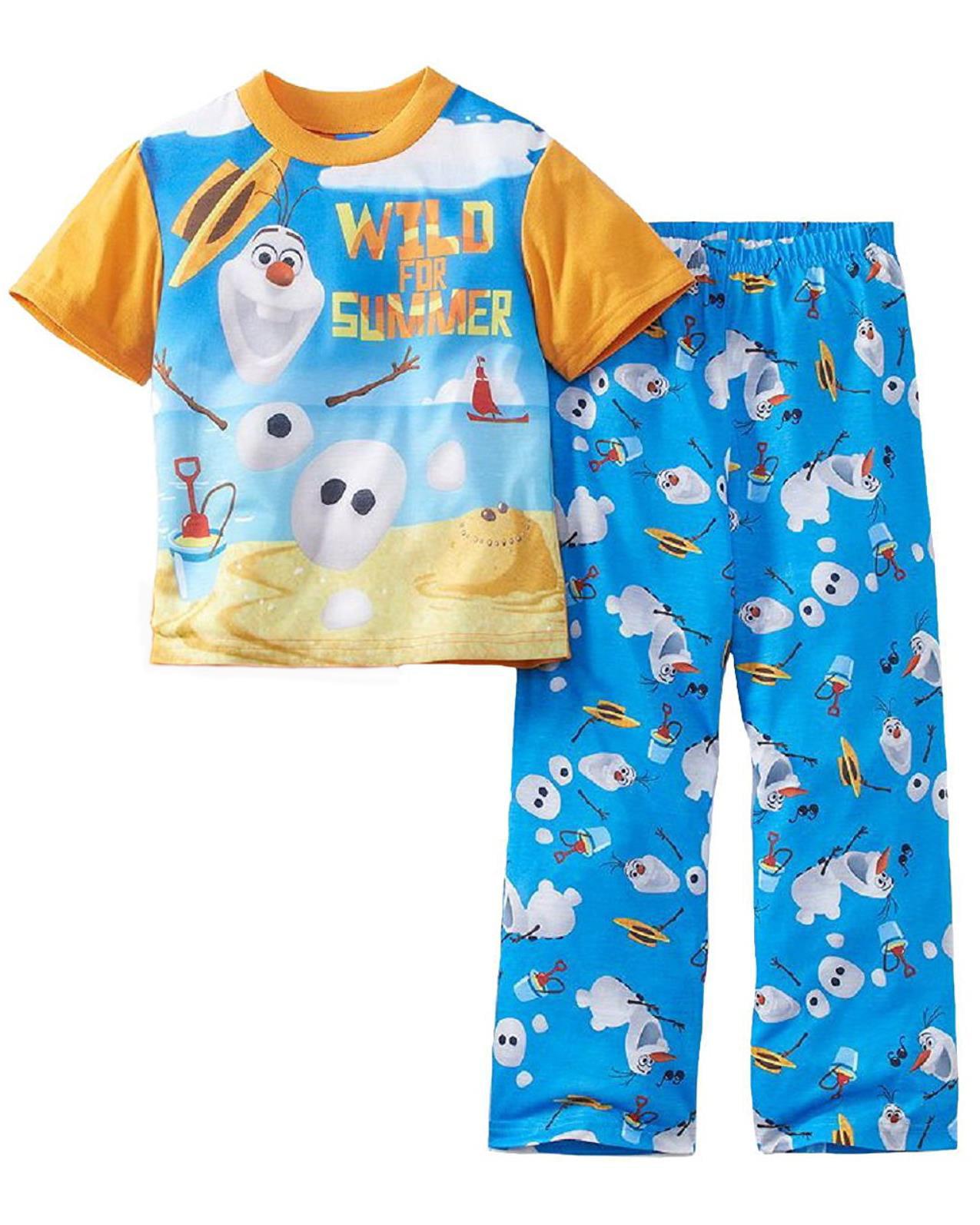 "Disney Frozen Little Boys' ""Wild for Summer"" 2-Piece Pajamas"