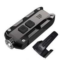 Nitecore TIP SS USB Rechargeable Stainless Steel Key Light - CREE XP-G2 S3 - 360 Lumens - Includes 1 x Li-Ion Battery Pack - Jet Black