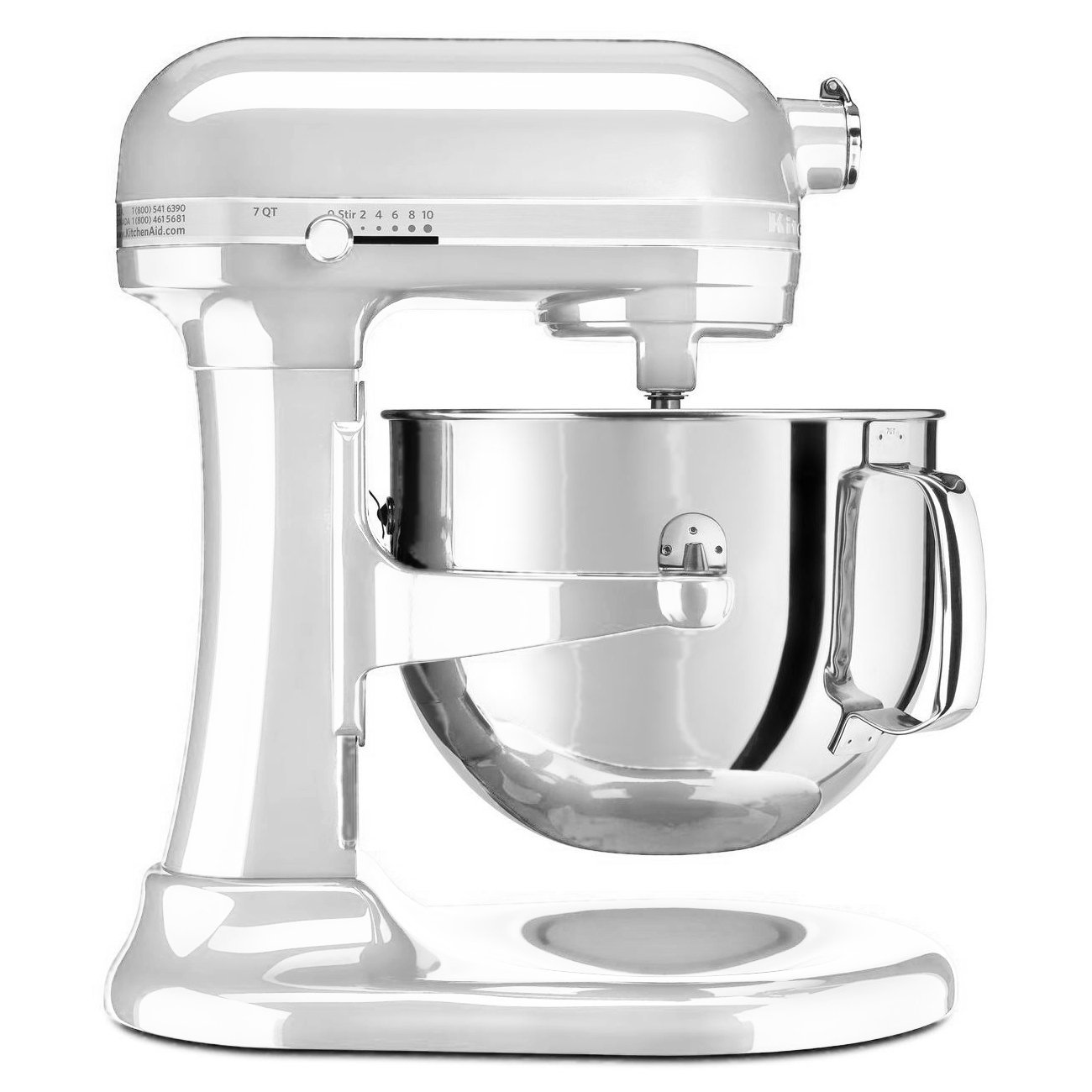 KitchenAid RRKSM7586PFP 7-Quart Pro Line Stand Mixer Frosted Pearl White (CERTIFIED REFURBISHED)