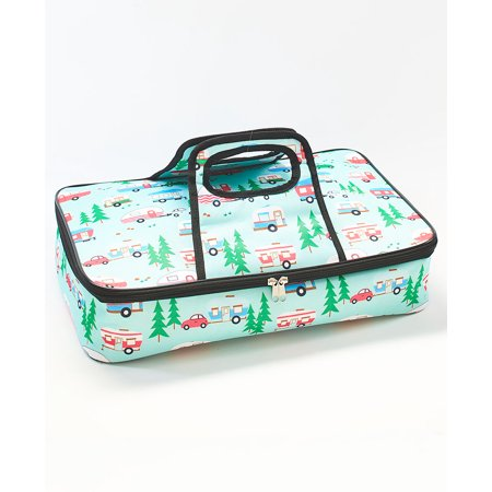 Retro Camper Print Insulated Casserole Carrier - (Mist Casserole)