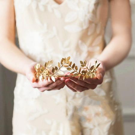Gold/Sliver Leaf Style Wedding Party Bridal Tiara Crown Vintage Bride Hair - Bride Crown