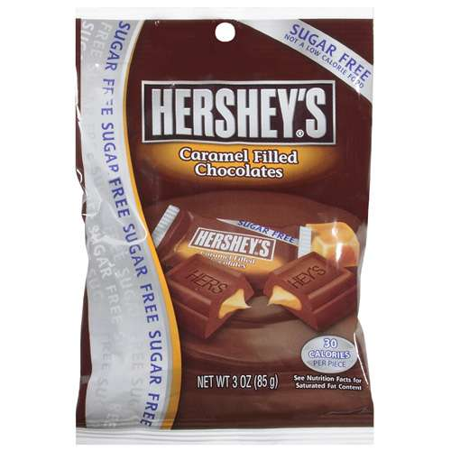 Hershey's Sugar Free Caramel Filled Milk Chocolate, 3 oz