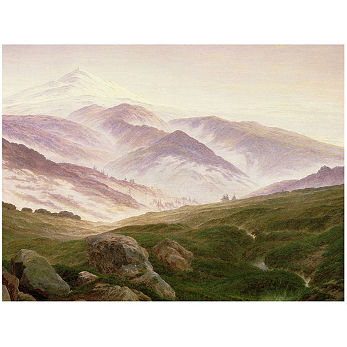 "Trademark Fine Art ""The Mountains of the Giants, 1839"" Canvas Art by Caspar Friedrich"