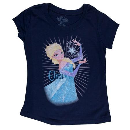 Elsa Sunburst Flake Girls Juvy T-Shirt - Elsa T Shirt