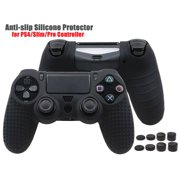 PlayStation 4 Controller Grip Cover Case Camouflage Silicone Rubber Skin For PS4 Controller Black