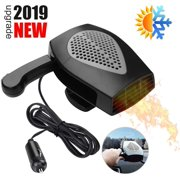Reactionnx Portable Car Heater, Auto Heater Fan,Car Windshield Defogger Defroster, 2 in1 Fast Heating or Cooling Fan, 12V 150W Auto Ceramic Heater Fan 3-Outlet Plug in Cig Lighter