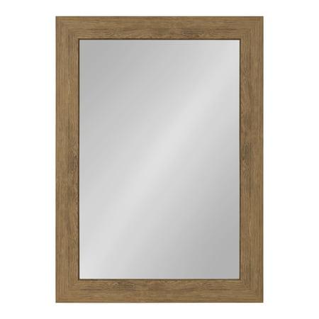 Kate and Laurel Boardwalk Framed Beveled Mirror 30.5 x 42.5 inches, Medium Brown