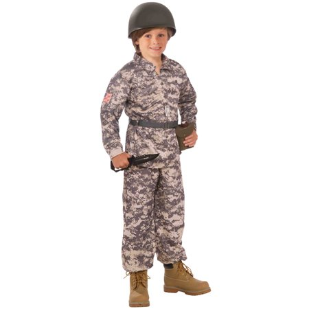 Desert Soldier Child Costume (Medium) - Desert Army Costume