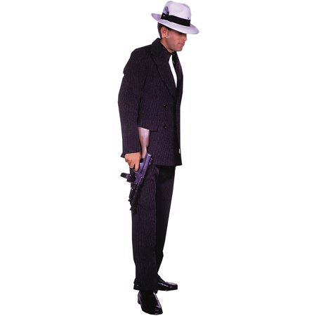 Brown Gangster Suit Adult Halloween Costume