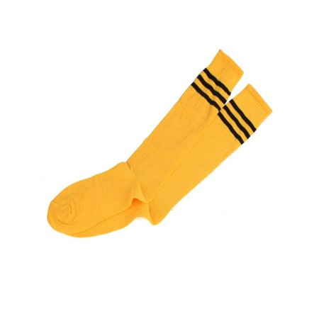 d0a3edde80b OkrayDirect 1 Pair THIGH HIGH SOCKS Over Knee Girls Womens Cheerleader  Yellow - Walmart.com