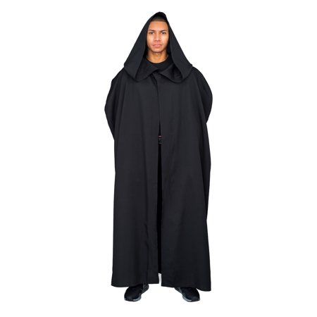 Jedi Black Robe with Hood (Adult Plus)