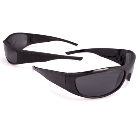 Veil Entertainment Faux Croc Skin Arm Sunglasses, Black, One-Size Adult, 2 Pack ()