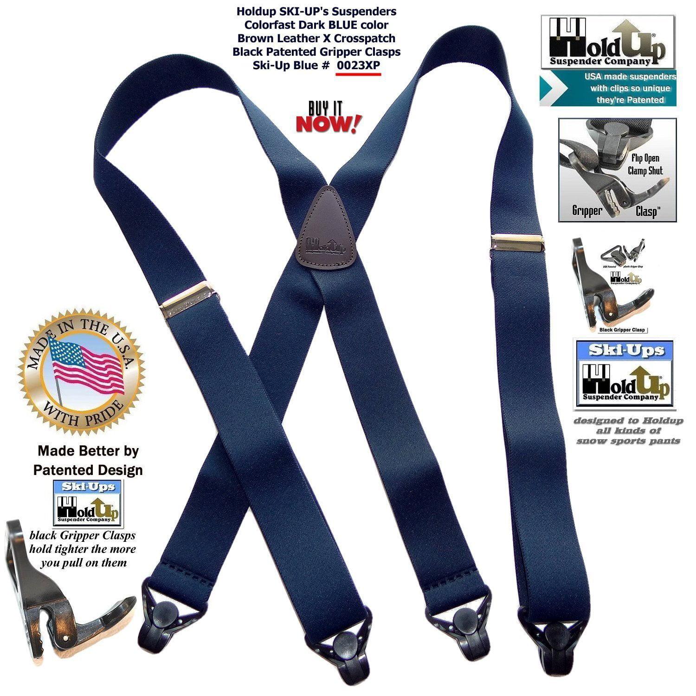 4 Clip Black Ski Salopette Braces