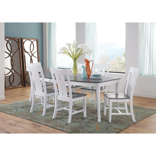 August Grove Brussels 7 Piece Extendable Solid Wood Dining Set