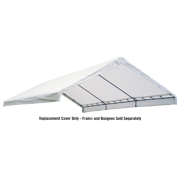 "ShelterLogic 18' x 30' Canopy White Replacement Cover for 2"" Frame, FR Rated"