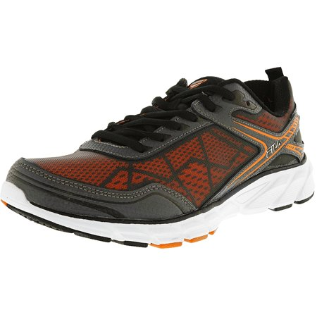 Fila Men's Memory Granted Castlerock / Black Vibrant Orange Ankle-High Running Shoe - 9M