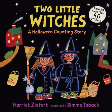 Two Little Witches : A Halloween Counting Story Sticker - Dr Witch