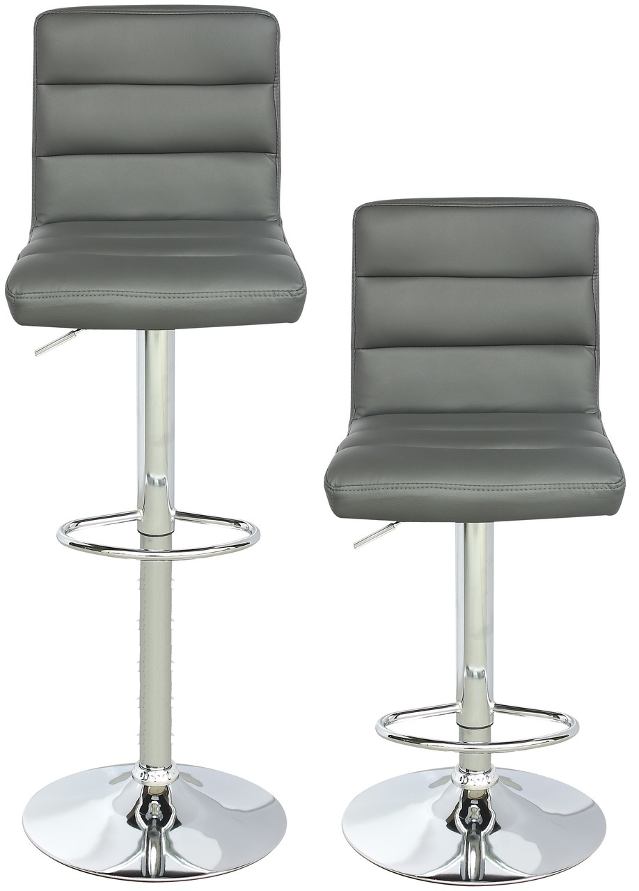 Viscologic Series Serenity Height Adjustable Swivel 24 To 33 Inch Bar Stool Set Of 2 Stools