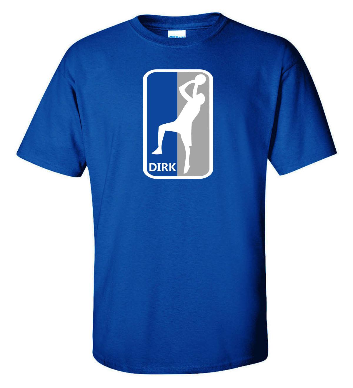 "Shedd Shirts  Blue Dirk Nowitzki Dallas Mavericks ""Dirk Logo""  Youth Small T-Shirt"