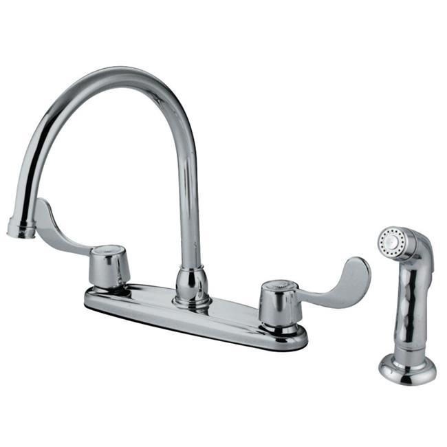 Kitchen Faucets Walmart: Kingston Brass KB782SP 8-Inch Centerset Kitchen Faucet