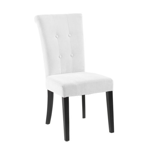 Tuxford Tufted Off White Fabric Side Chair, 2pk (Box 1 of 2)