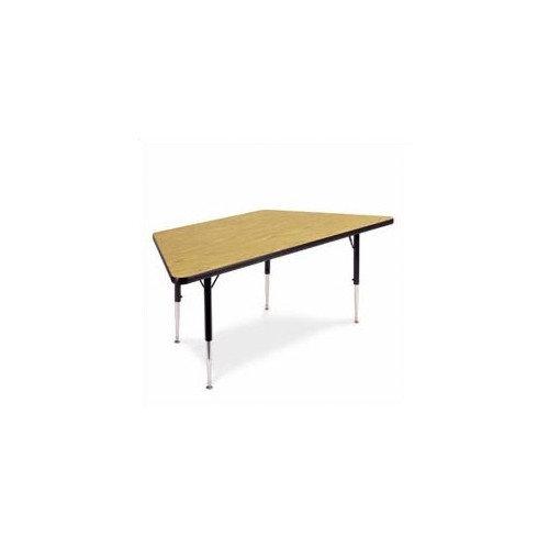 Virco 4000 Series 84'' x 42'' Trapezoidal Activity Table