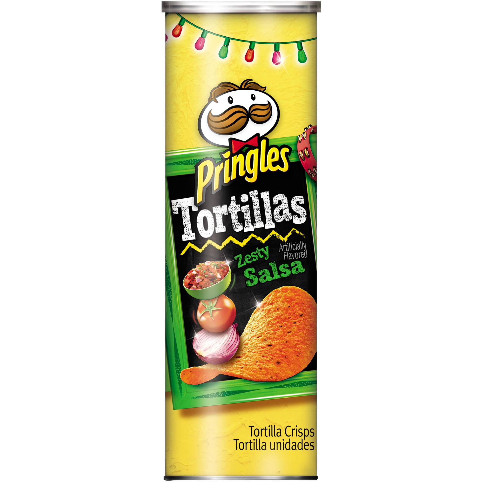 ip Pringles Tortillas Zesty Salsa Tortilla Crisps  oz