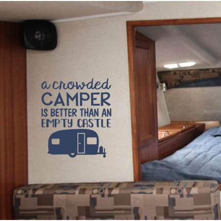 Camper Decor Decals Camping Quote Better Than Castle RV Wall Art Stick