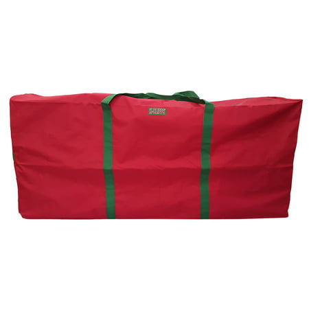 Heavy Duty Christmas Tree Storage Bag Garlands Wreaths Holiday Decorations Duffel Bags Fit up to 9 Foot Artificial Tree Holiday Red Extra Large Dimensions 65