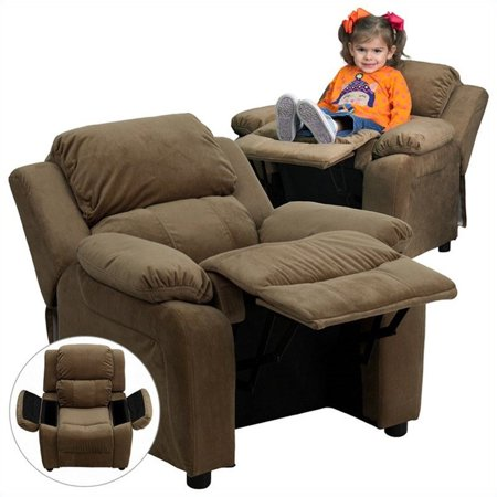 Bowery Hill Padded Kids Recliner in Brown - image 1 of 5